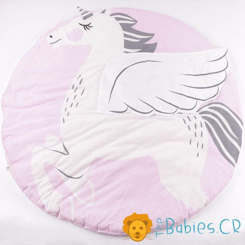 Alfombra circular Unicornio