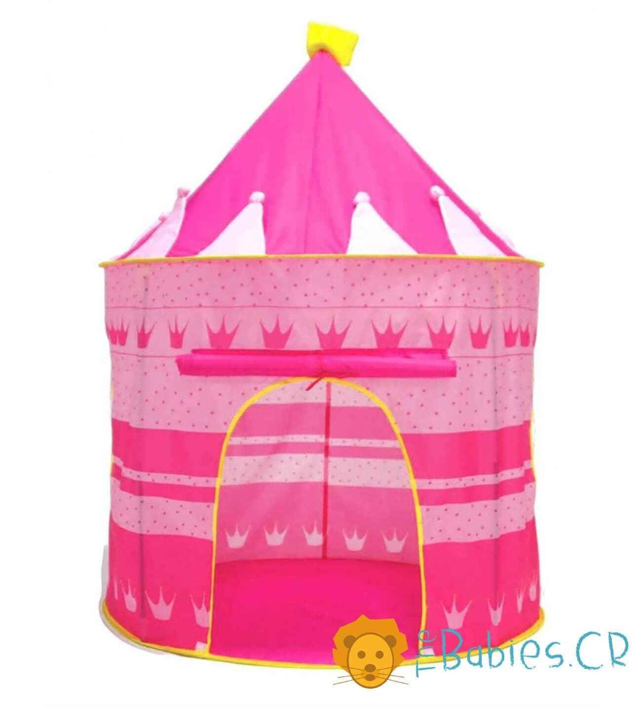 Tienda tipo castillo rosado Image