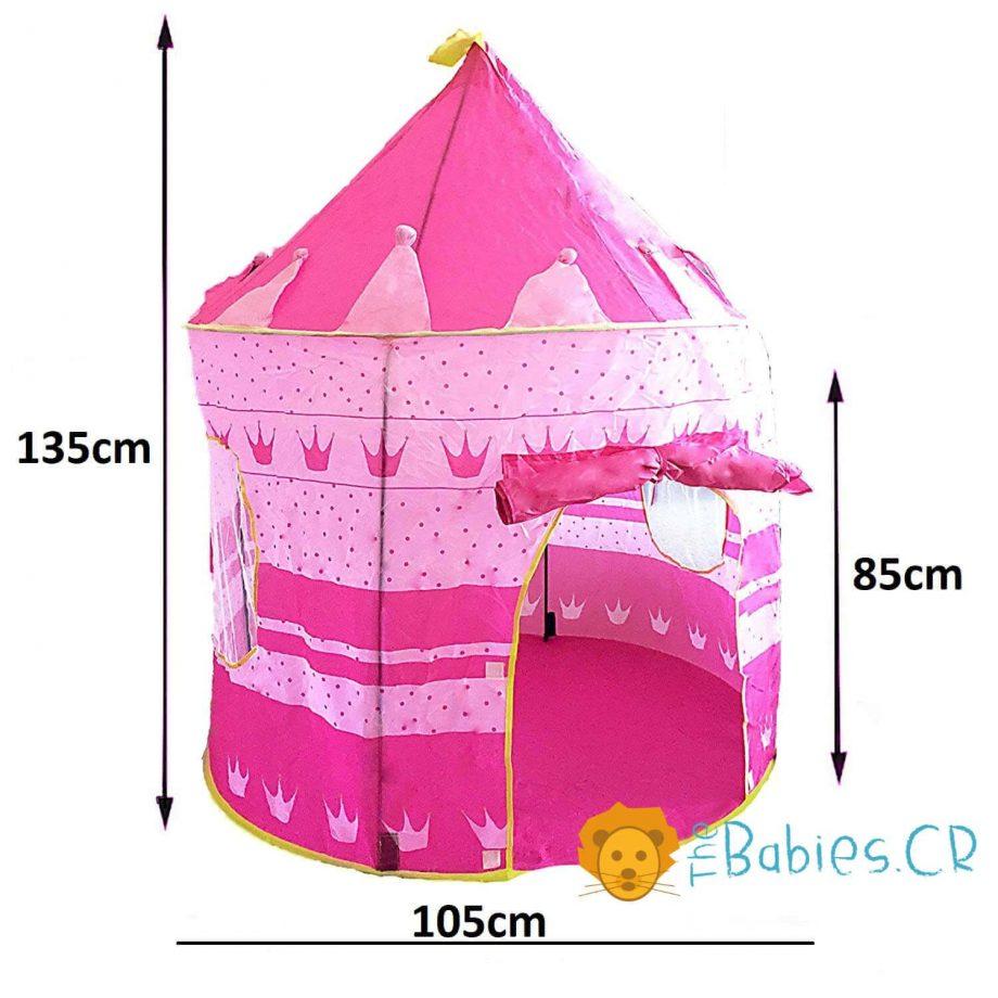 Tienda tipo Castillo rosada